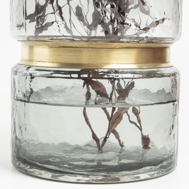 JAMBALA Vase 23.5 cm grey glass