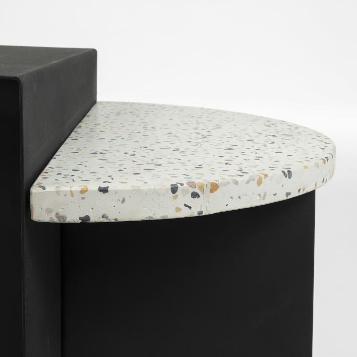 CLEARY Side table terrazzo white