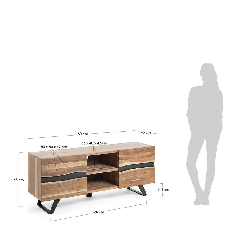 IRVIN Tv cabinet 160x65 wood acacia