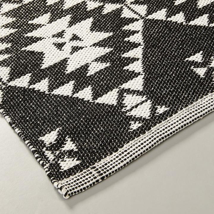 【SALE】APIKIA Rug Pvc 130x190 black white