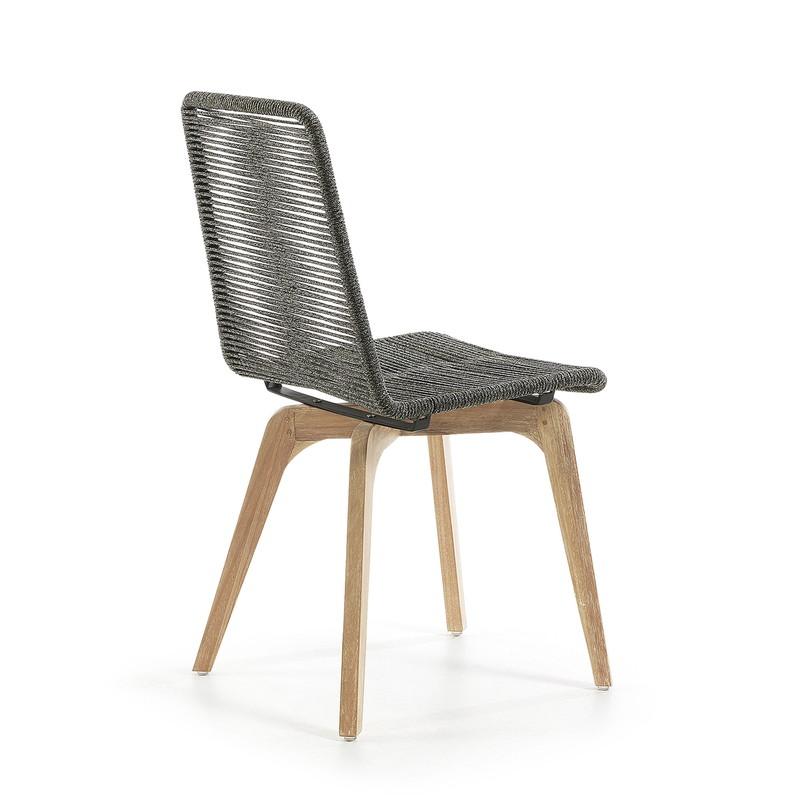 GLENDON Chair eucalyptus natural rope grey