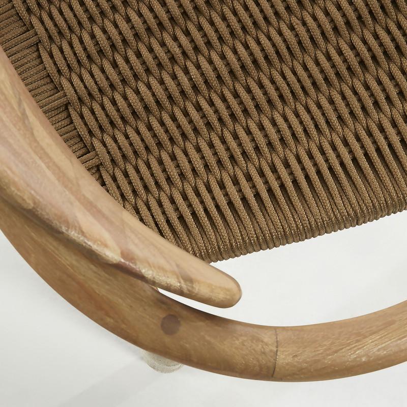 GLYNIS Armchair eucalyptus natural rope beige