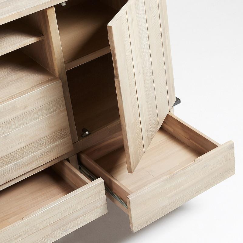【SALE】DISSET Sideboard 160x105 metal, acacia natural