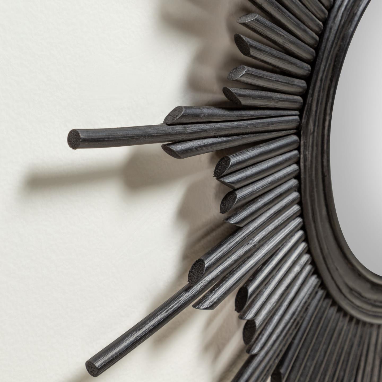 Black Marelli mirror O 70 cm