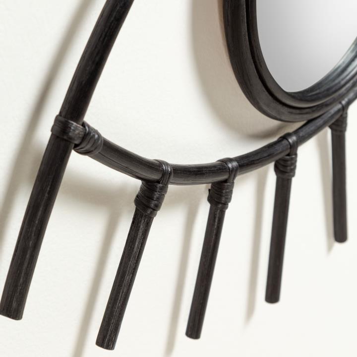 Black Maela mirror 72 x 45 cm