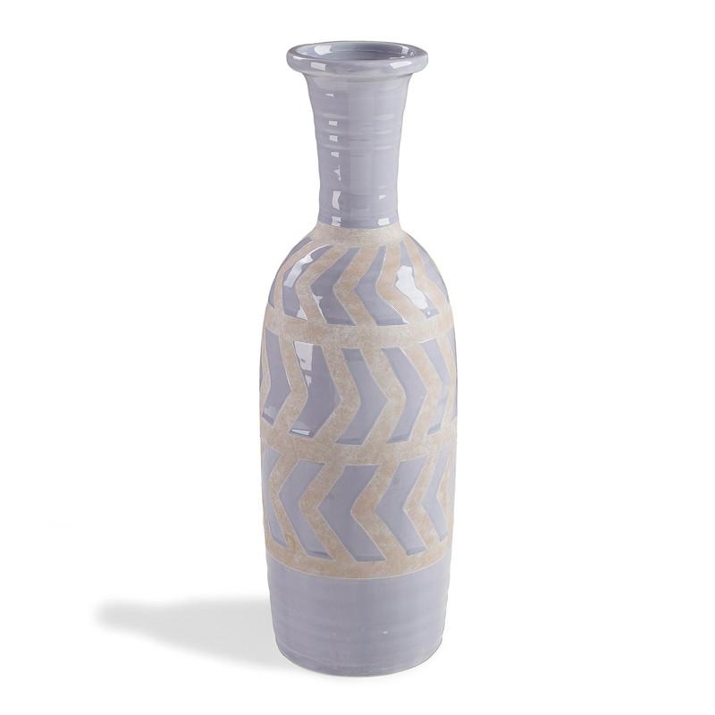 ARCO Vase ceramic light blue
