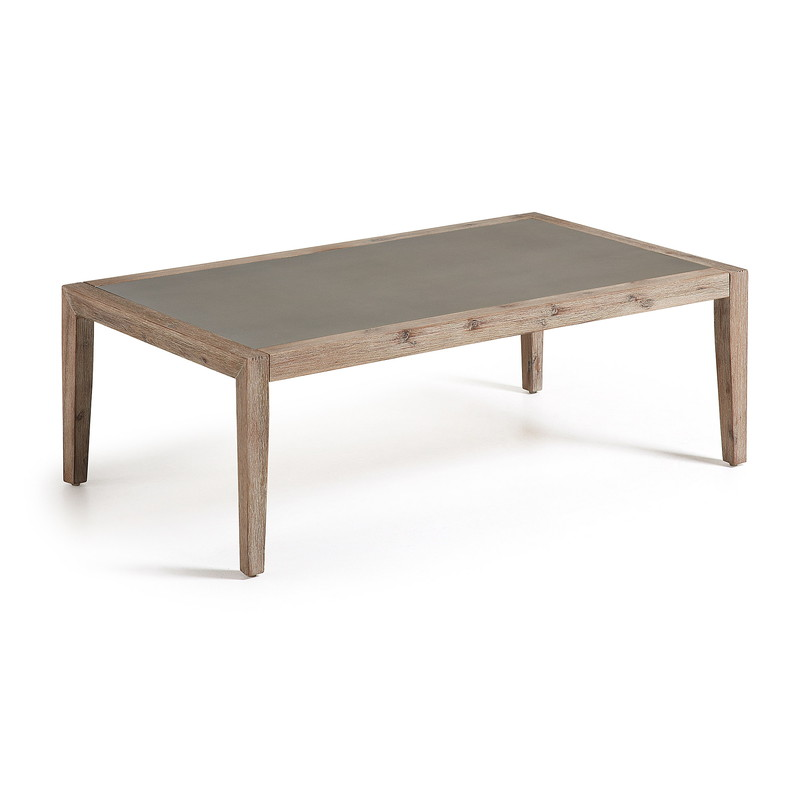 CORVETTE Coffee Table 120x70 acacia wh wash polycement g