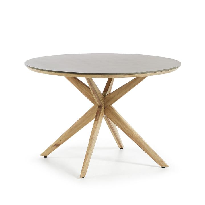 GLOW Table ?120 eucalyptus natural,poly-cement l gre