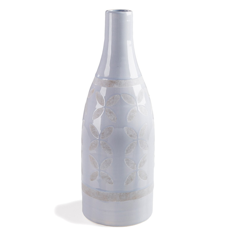 ARCO Vase ceramic light blue