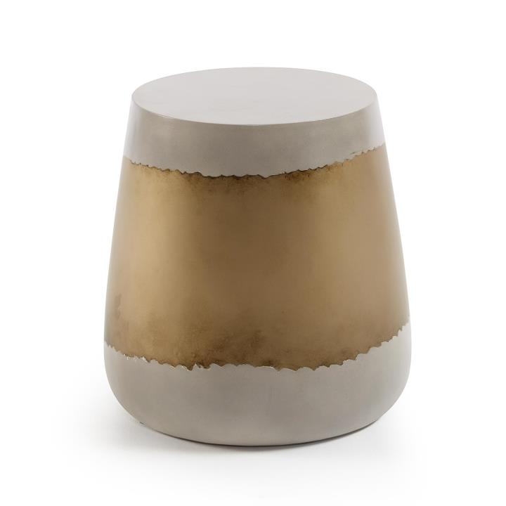 GOLDMAN Side table gold cement