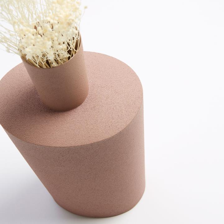 FERNELL Vase metal pink