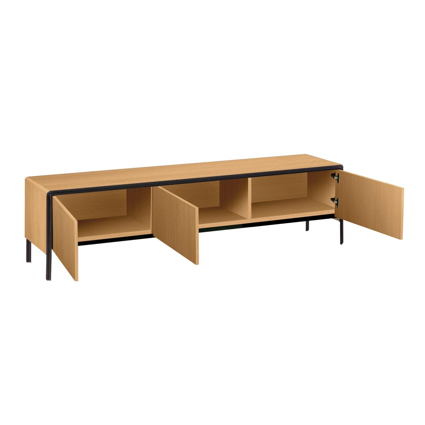 Nadyria oak wood TV Stand  180 x 50 cm