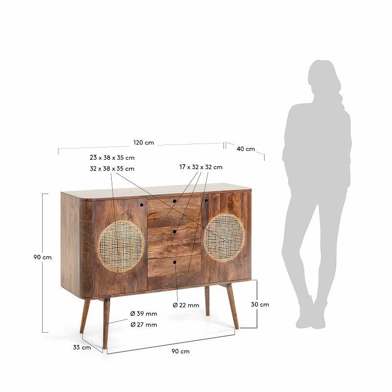 GERALDINE Sideboard 120 x 90 cm