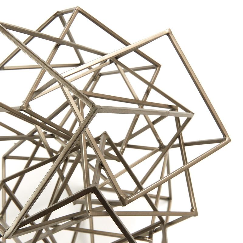 SACKS Geometric figurine metal zinc