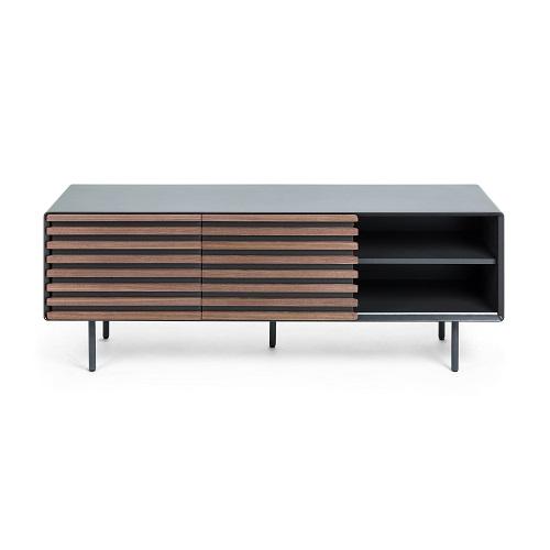 MAHON Tv cabinet 162x58 walnut veneer. mdf matt gra