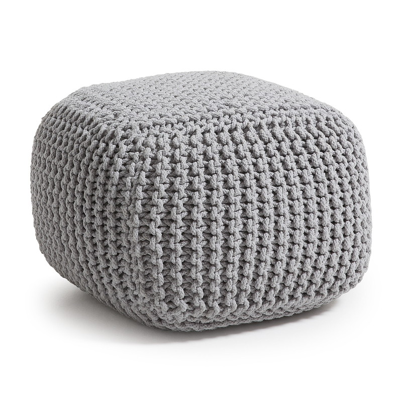 SMOGEN Pouf Cotton Light grey