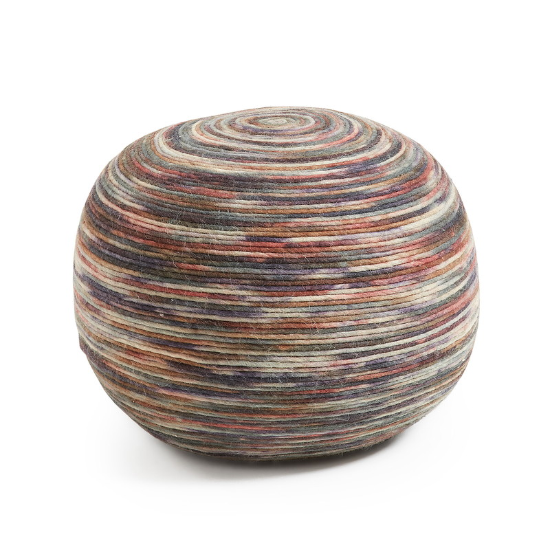 LAP Pouf wool 50dx35 multicolor