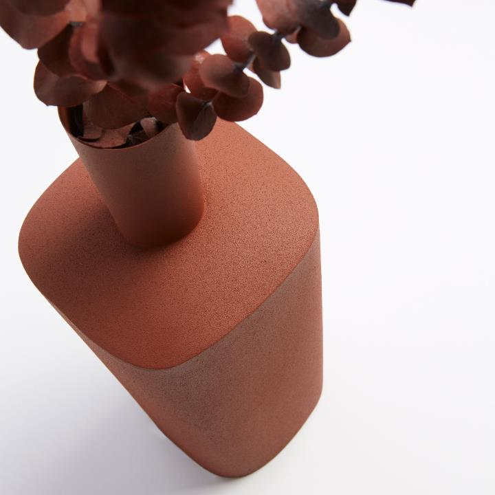 FELICITY Vase brown metal