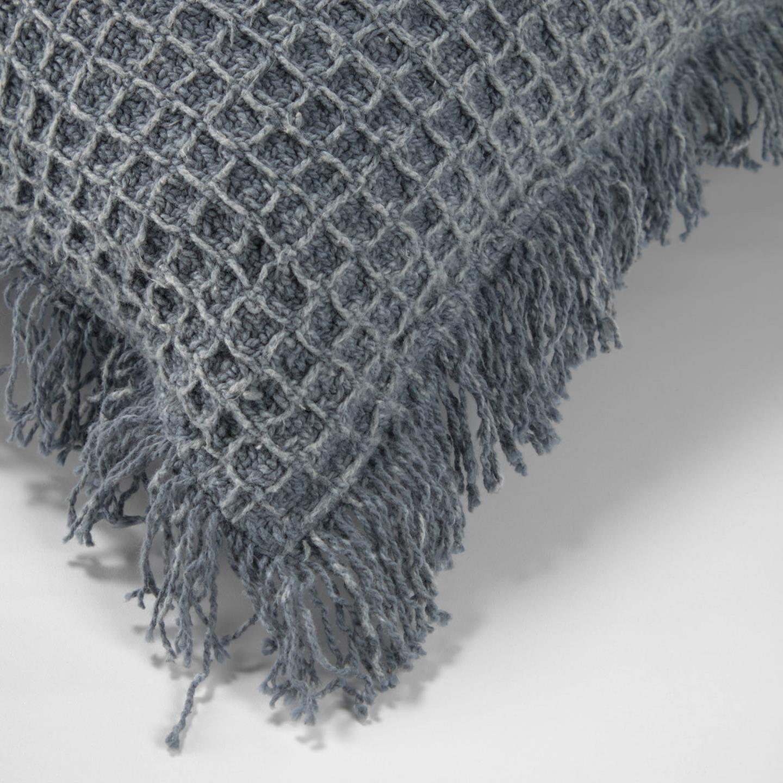 Shallow grey cushion cover 45 x 45 cm