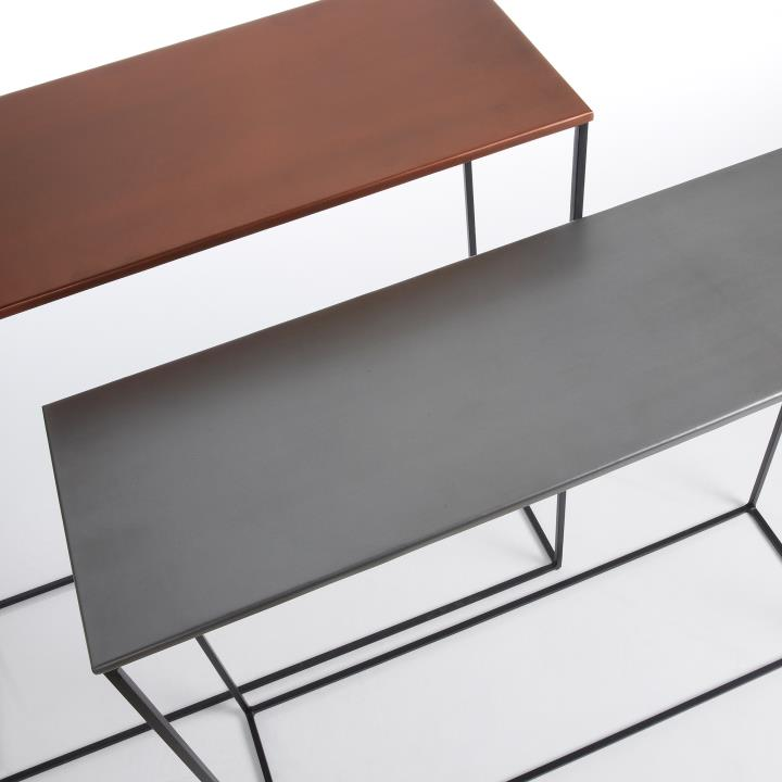 VILMU A Set 2 Console Table metal Zinc and Copper