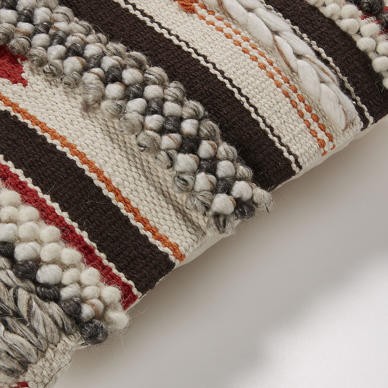 FISURE Cushion cover 45x45 wool cotton multicolor