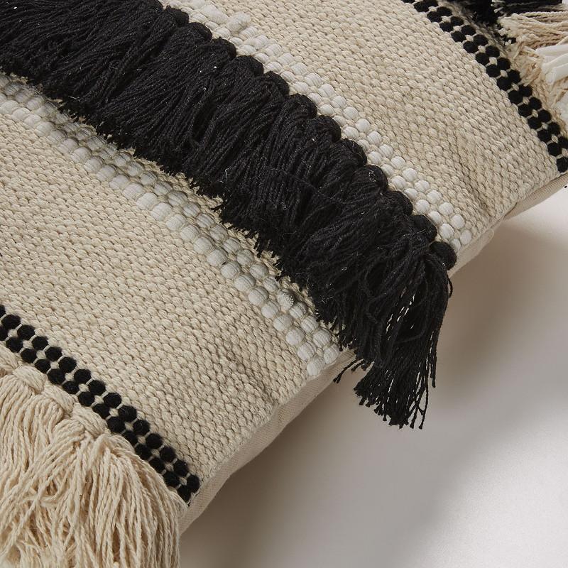 FOSSE Cushion cover 45x45 cotton black white