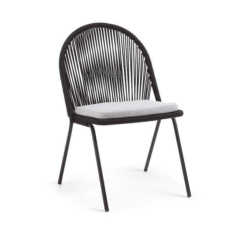 STAD Chair black metal black rope