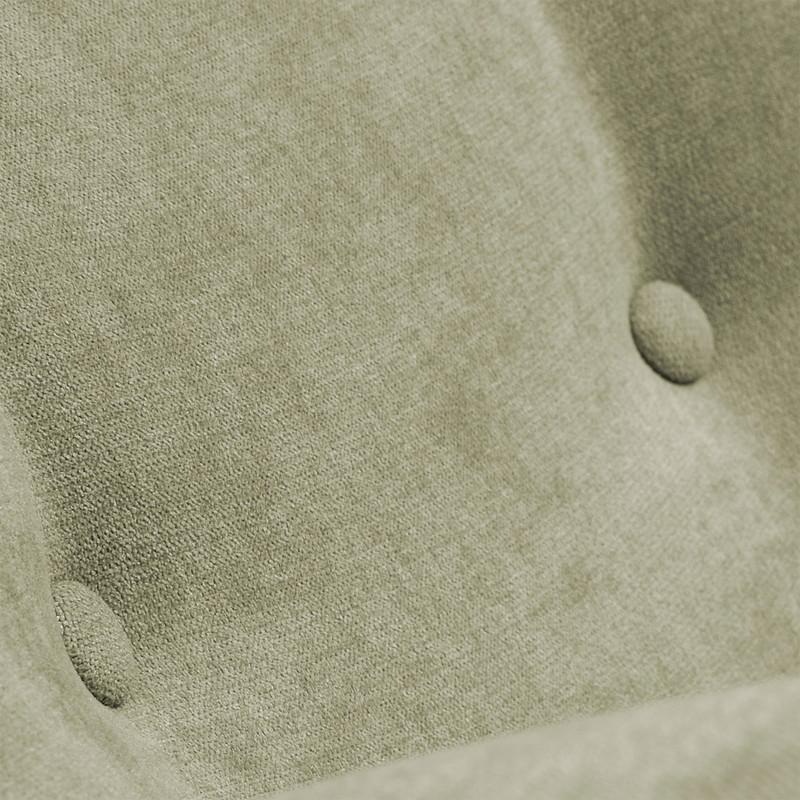 【SALE】PASSO Armchair natural wooden legs, fabric vint green