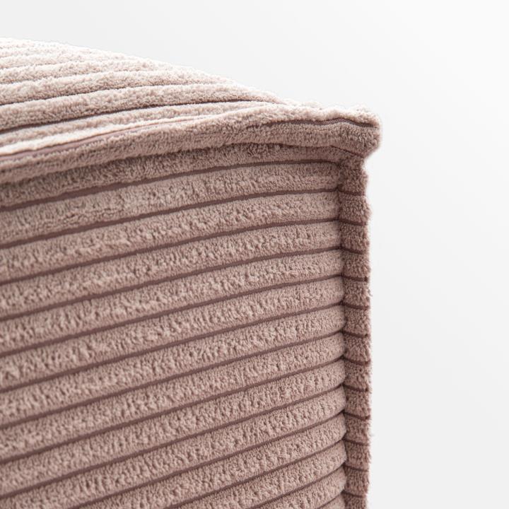 Pink velveteen Blok pouffe 90 x 70 cm