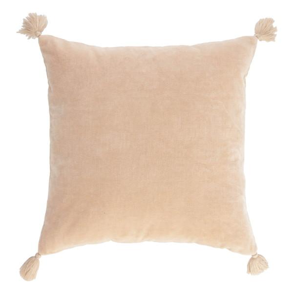 Carmin solid pink corduroy cushion cover 45 x 45 cm