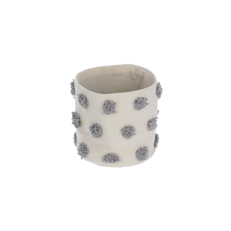 Khrista 100% cotton small grey basket