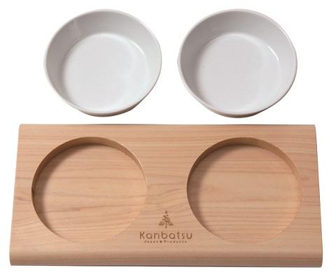 kanbatsu TWOMEAL double dish トゥーミール ダブルディッシュ シンプルなデザインでインタリアにも合いやすい!