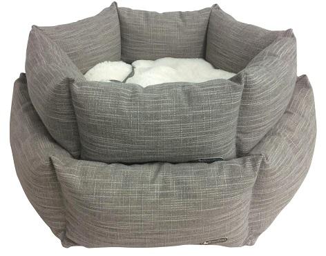 BASKET FLOWER Classic Gray  バスケットフラワー クラシック グレー (2サイズ)  六角形の洗えるベッド!!!