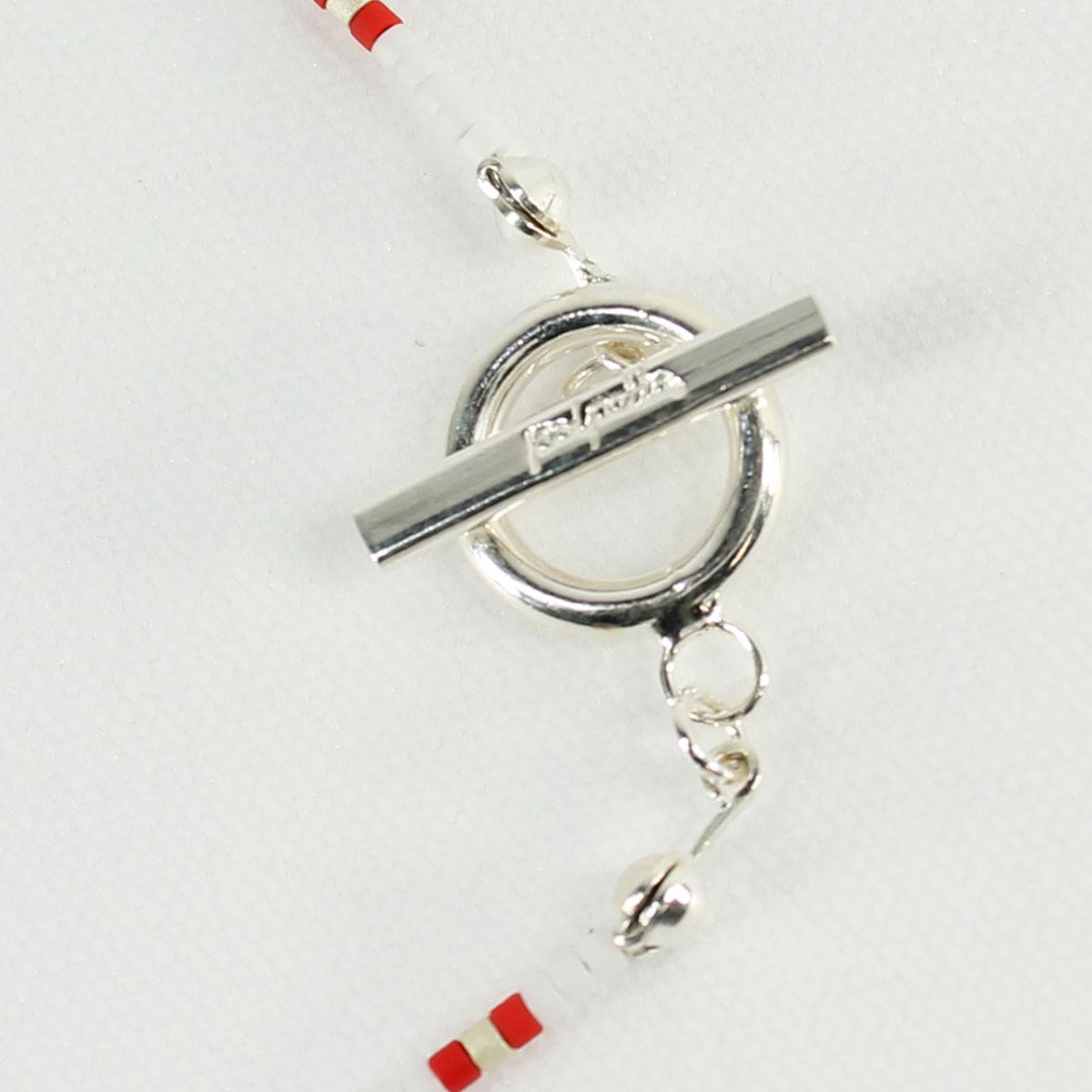 POLPETTA ポルペッタ シルバー925×カラービーズ アンクレット COLANELLO-TR ANKLET (ホワイト)