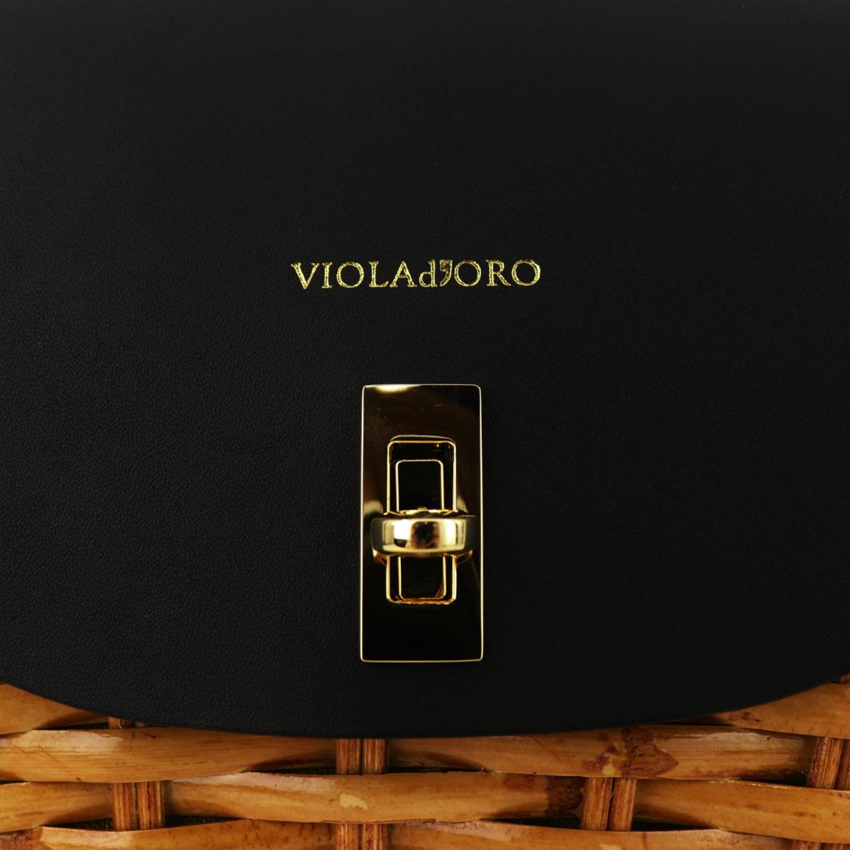 ヴィオラドーロ VIOLAd'ORO レディース スプリットラタン 2WAY ハンドバッグ MIRO V-8435 VLD (キャメル) 春夏新作