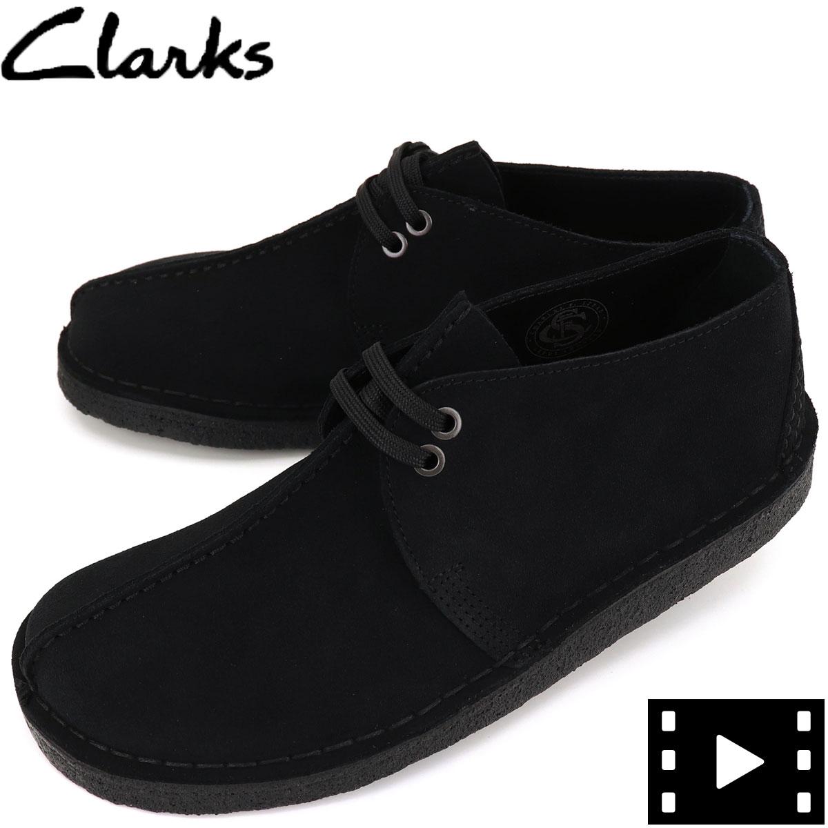 クラークス オリジナルズ CLARKS ORIGINALS メンズ スエード デザートトレック DESERT TREK 26155486 BLACK SUEDE(ブラック)秋冬新作