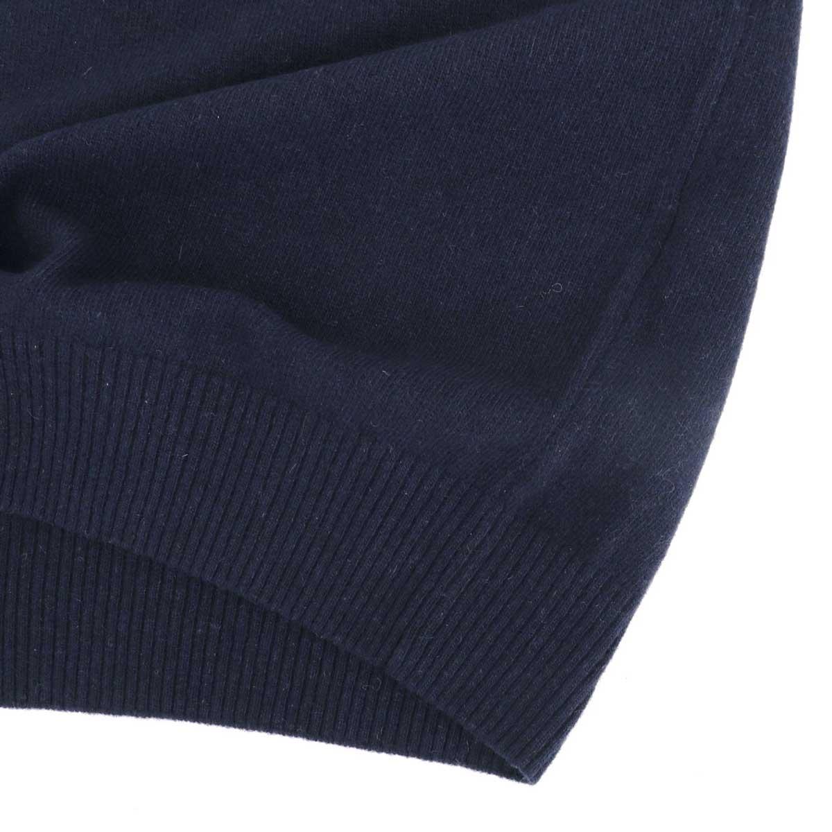 【クリアランスセール】ダニエレフィエゾーリ DANIELE FIESOLI メンズ エコカシミヤ ハイゲージニット クルーネック セーター WS3000 0023(ネイビー)【返品交換不可】