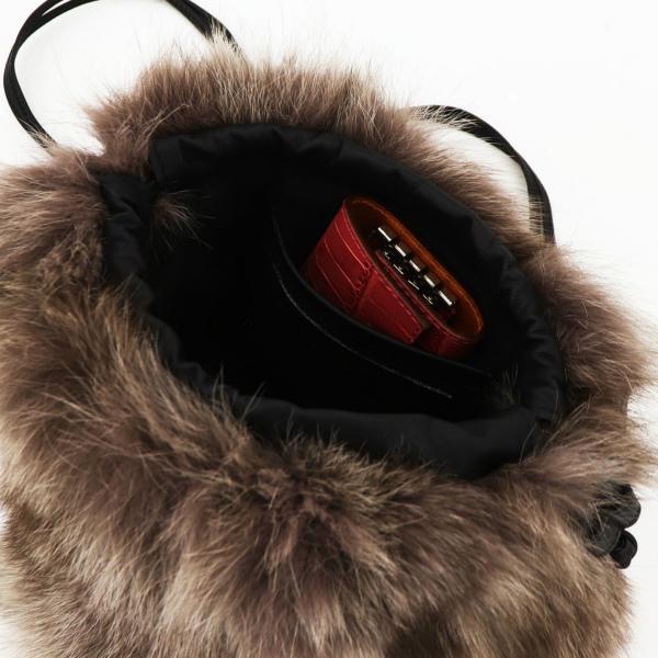 ヴィオラドーロ VIOLAd'ORO レディース フォックスファー ショルダーバッグ VOLPE V-8286 VLD MOCHA(モカ)秋冬新作