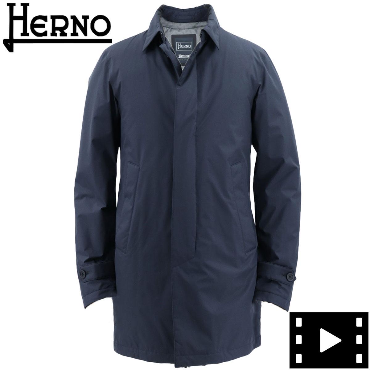【決算セール】ヘルノ HERNO メンズ ラミナー ゴアテックス ステンカラー ダウンコート GORETEX LAMINAR PI133UL 11121/D 9201 NAVY(ネイビー)秋冬新作【返品交換不可】