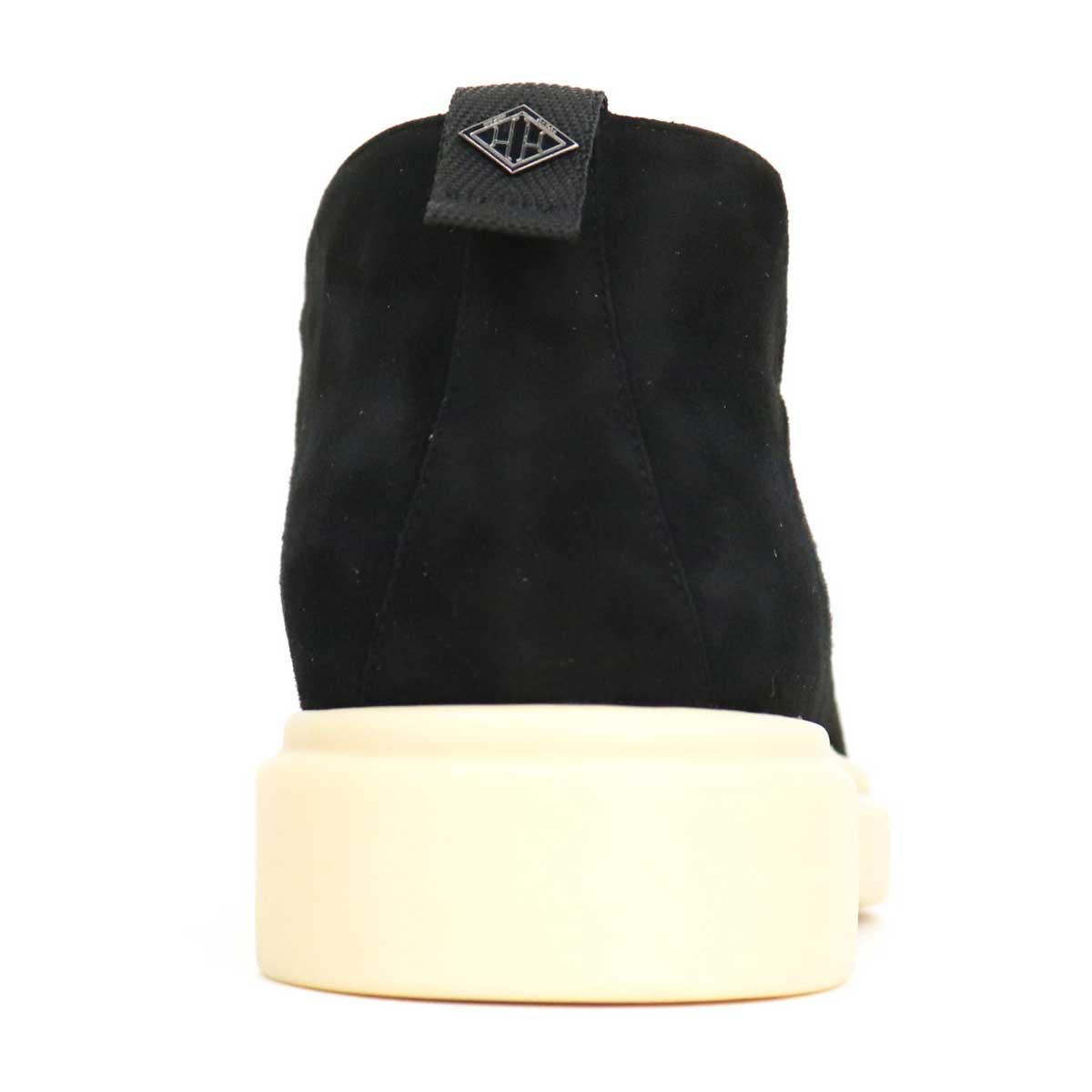 ダブルエイチ WH メンズ イタリア製 Uチップ ゴートスキン スエードアンクルブーツ ITWH-0002 BLK(ブラック)秋冬新作