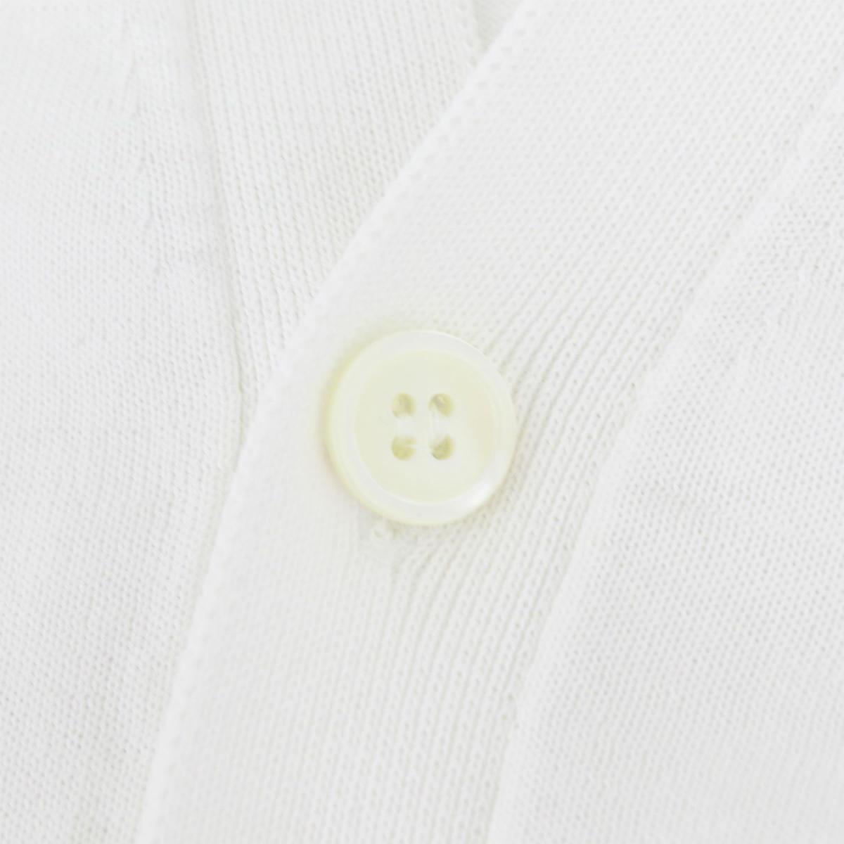 フィリッポ デ ローレンティス FILIPPO DE LAURENTIIS メンズ クレープコットン ハイゲージ サマーニットカーディガン 1110-CB11ML06 FDL 0001(ホワイト) 春夏新作