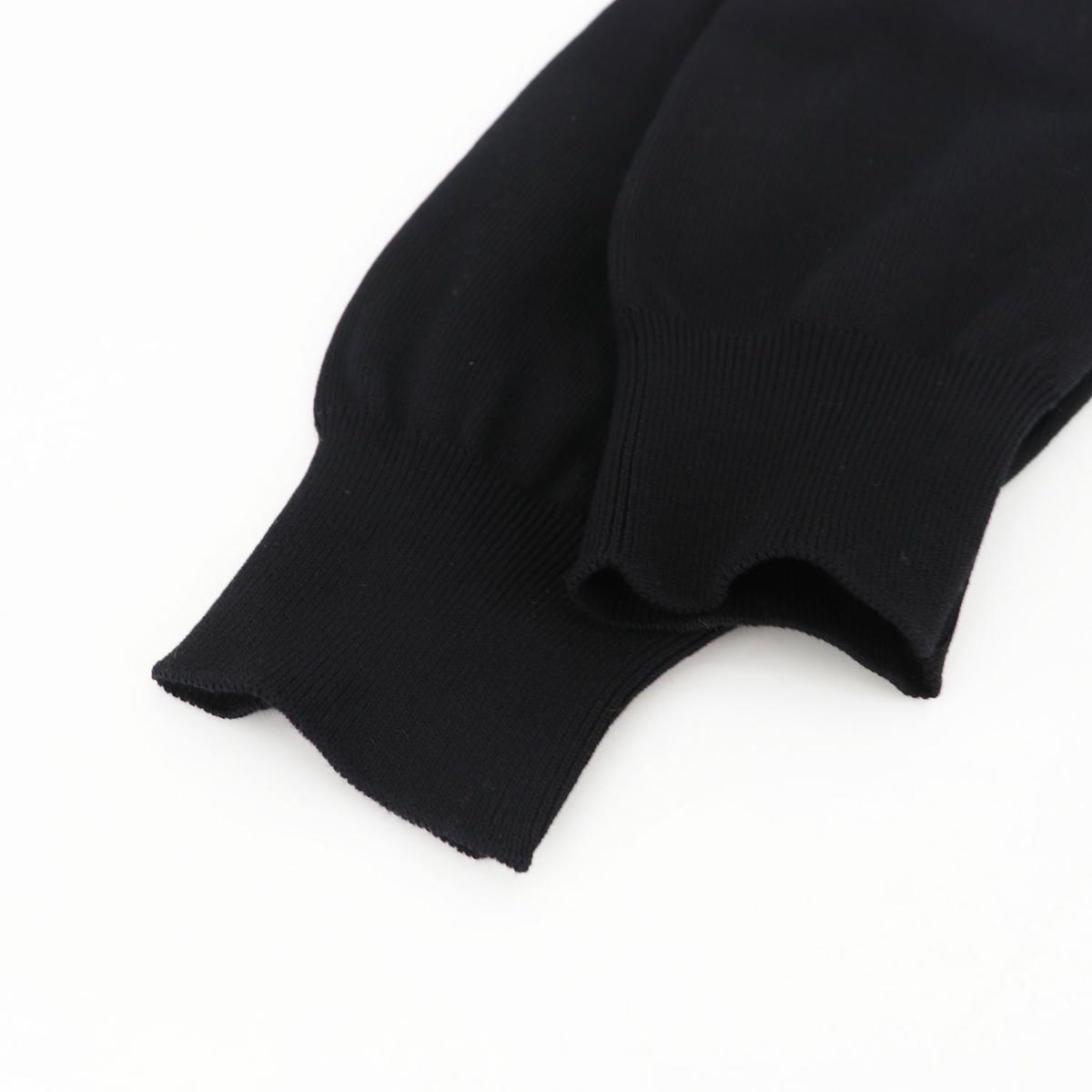 フィリッポ デ ローレンティス FILIPPO DE LAURENTIIS メンズ クレープコットン ハイゲージ サマーニットカーディガン 1110-CB11ML06 FDL 0990(ブラック) 春夏新作