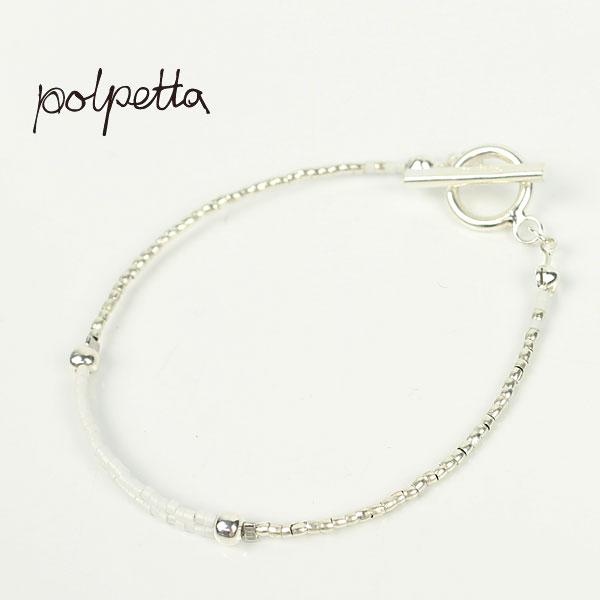 POLPETTA ポルペッタ シルバー925 シングルブレスレット COLANELLO (ホワイト)