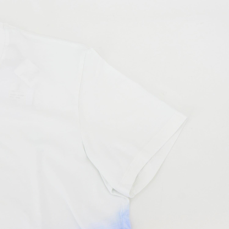 ピーエムディーエス P.M.D.S. PMDS メンズ グラデーション ロゴプリント 半袖Tシャツ MAKIA PMD 636TS UNICO (ホワイト×ブルー) 春夏新作