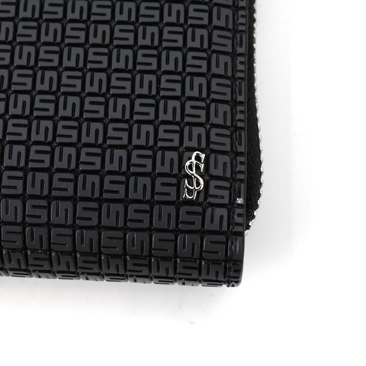 セラピアン SERAPIAN PVC型押し ラウンドジップ長財布 Stepan STEP7030-M19 CC3 Asphalt/Black(ダークグレー)