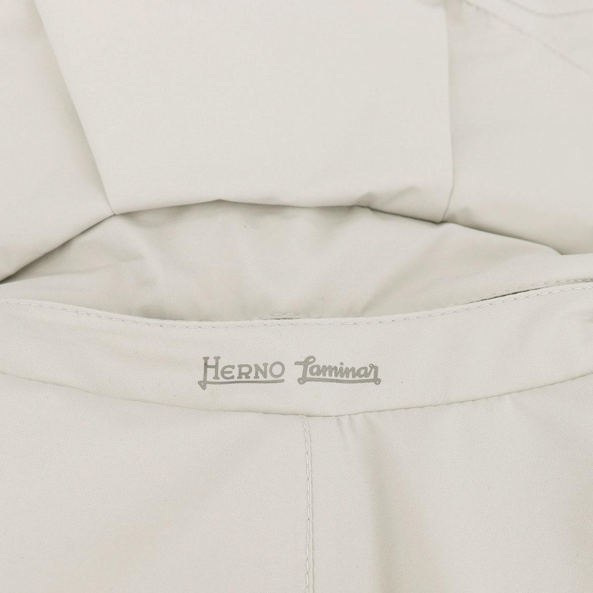 【決算セール】ヘルノ HERNO メンズ 中綿入り LAMINAR ラミナー GORE-TEX ゴアテックス 撥水 トレンチコート PI113UL 11121/BF/D 1300(オフホワイト)【返品交換不可】