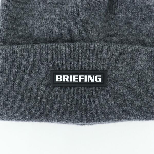 ブリーフィングゴルフ BRIEFING GOLF メンズ カシミア混ウール ビーニー MS WOOL CASHMERE BEANIE BRG213M88 BRG 014 GRAY(グレー)秋冬新作