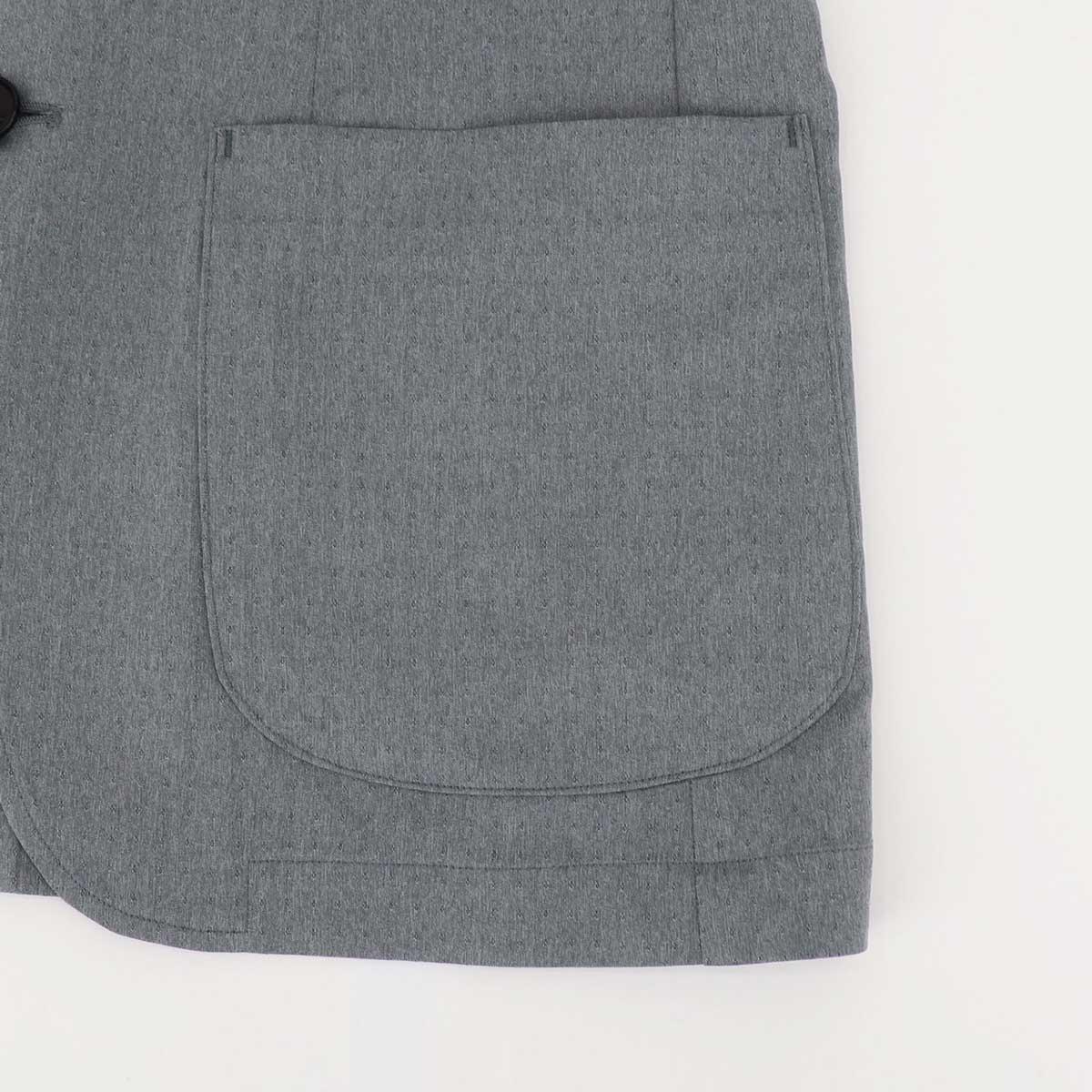 【クリアランスセール】ティモーネ Timone メンズ 撥水ナイロン ドットストライプ エアリーストレッチ サマー シングルジャケット TM0107124(グレー)【返品交換不可】