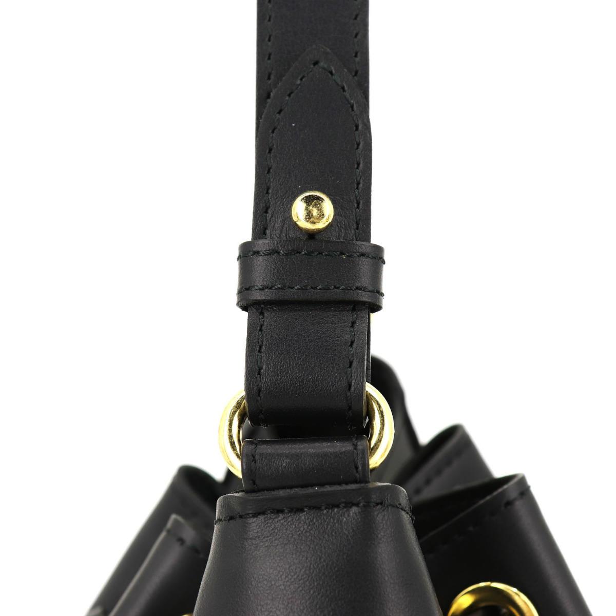 ヴィオラドーロ VIOLAd'ORO レディース レザー 2WAY  巾着型 ハンドバッグ TRILL トリル V-1300 VLD BLACK(ブラック) 春夏新作