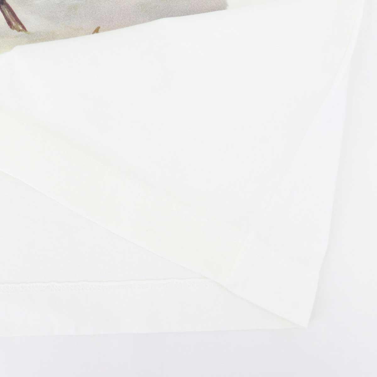 【クリアランスセール】チルコロ1901 CIRCOLO1901 メンズ コットン クルーネック 半袖 プリントTシャツ 0104-267850(ホワイト)【返品交換不可】